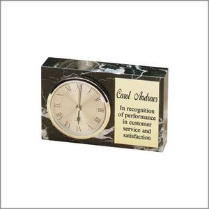 MARBLE RECTANGLE CLOCK H 8 STD PACK