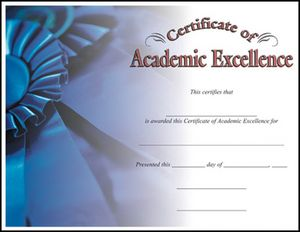 ACADEMIC EXCELLENCE CERT 100 STD PACK