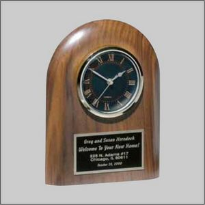 WALNUT DOMED CLOCK AWARD 1 STD PACK