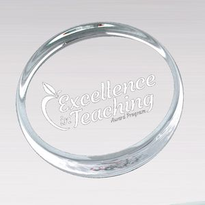 "ROUND PAPERWEIGHT 3.5"" 24 STD PACK"