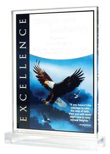 EAGLE ACRY 6X8 W/BASE 6 STD PACK
