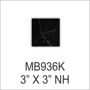 "BLACK MARBLE BASE 3"" X 3 48 STD PACK    3456 SKID"