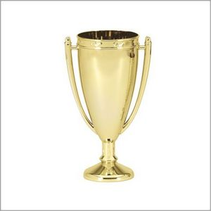 """METAL FLAME CUP, GOLD 7"""" 25 STD PACK"""