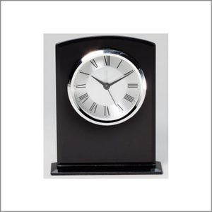 BLACK GLASS CLOCK 1 STD PACK      12 MASTE