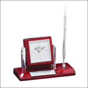TILTING ROSEWOOD CLOCK W 4 STD PACK      24 MASTE