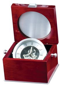 SILVER CLOCK IN ROSEWOOD 6 STD PACK