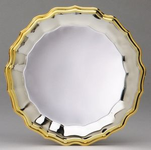 WAVE PLATE,SILVER W/GOLD 50 STD PACK