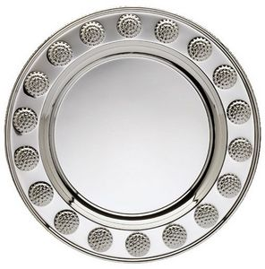 ROUND PLATE SILVER W/GOL 25 STD PACK