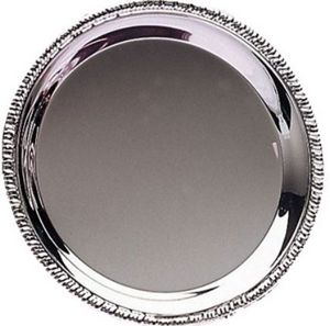 """SILVER TRAY 8"""" ROUND PLA 60 STD PACK"""