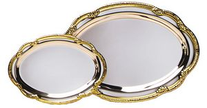 SILVER TRAY SM OVAL GOLD 48 STD PACK    144 MASTE